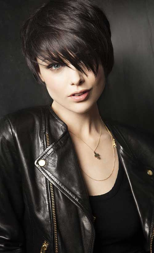 Stylish Dark Pixie Cuts Ideas
