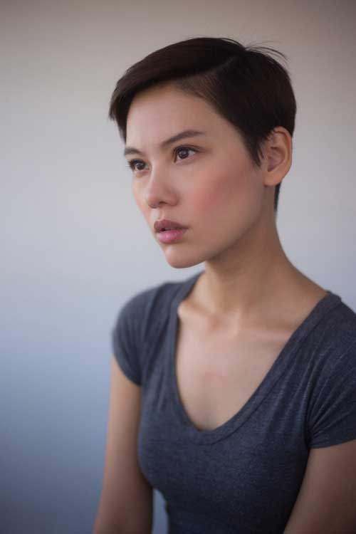 Super Short Asian Hair Pixie Cut