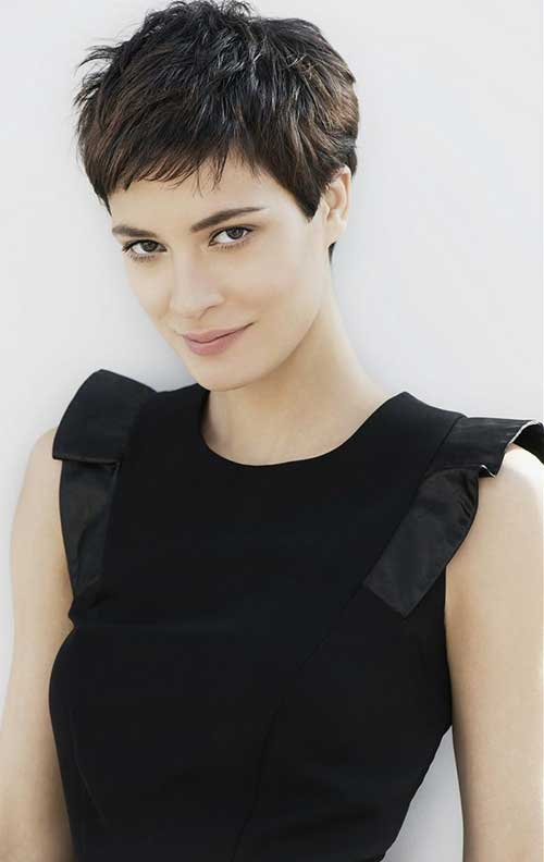 Textured Dark Hair Pixie Cuts