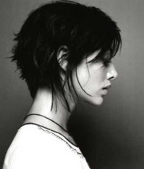 Trendy Dark Long Pixie Cuts Ideas