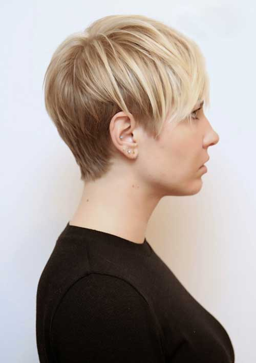 Very Short Layered Blonde Pixie Cuts