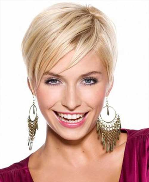 Very Short Straight Blonde Pixie Cuts