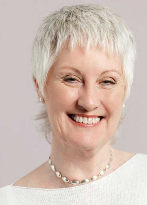 White Pixie Hair Cuts for Women Over 50