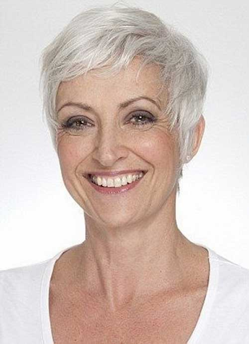 White Pixie Haircut for Older Ladies