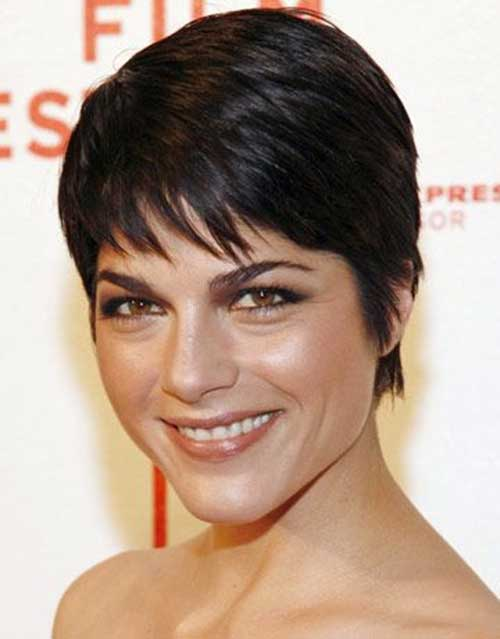 Women with Thick Dark Straight Pixie Hair Ideas