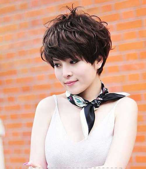 Asian Style Wavy Pixie Haircut