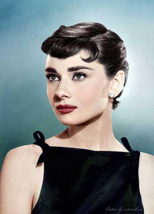 Audrey Hepburn Classy Pixie Cut
