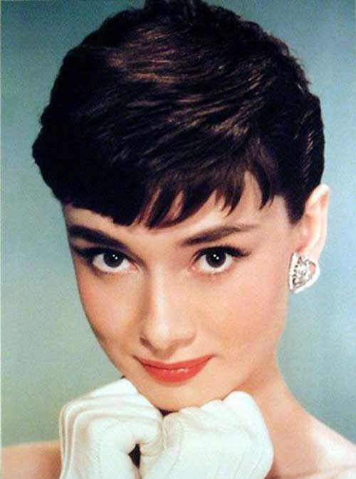 Audrey Hepburn Gorgeous Pixie Hair