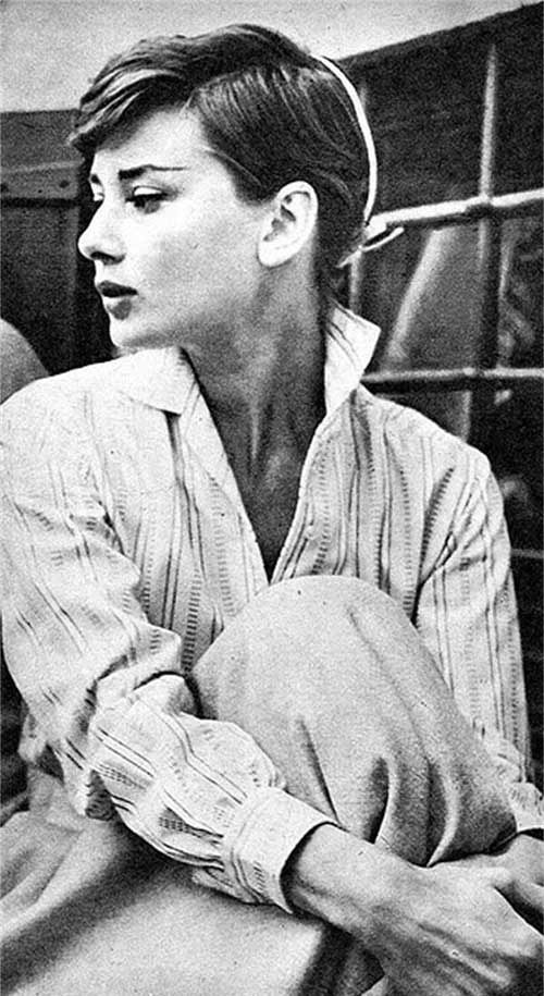 Audrey Hepburn Good Pixie Hair