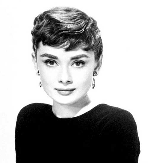 Audrey Hepburn Wavy Pixie Hair