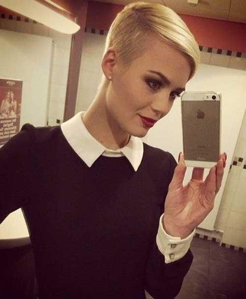 Best Blonde Pixie Hair Shaved Side