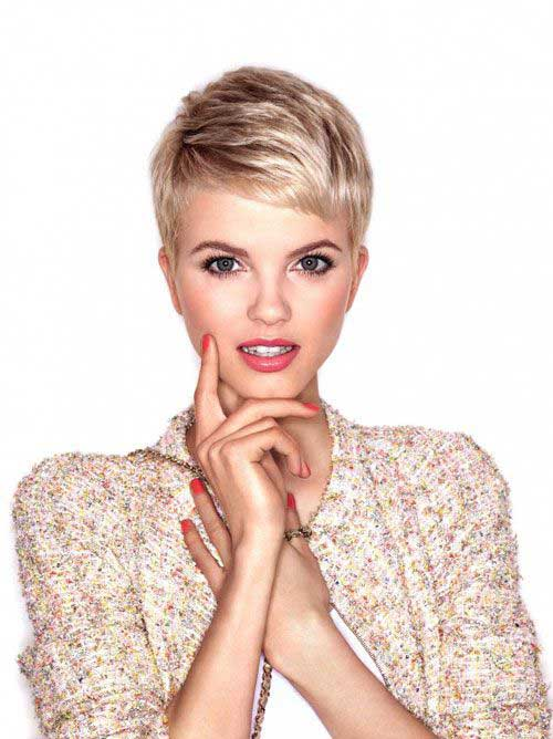 Blonde Short Pixie Haircut