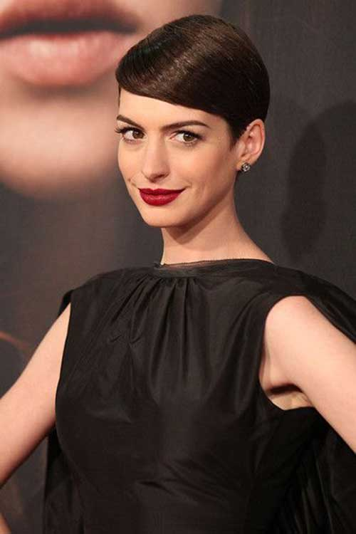 Celebrities Dark Pixie Cuts