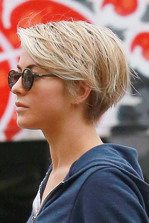 Celebrities Pixie Thin Straight Hair Cuts