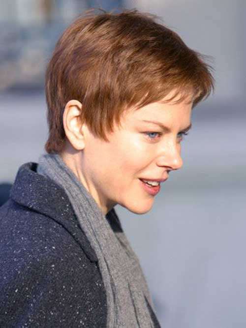 Celebrities Short Pixie Thin Haircuts