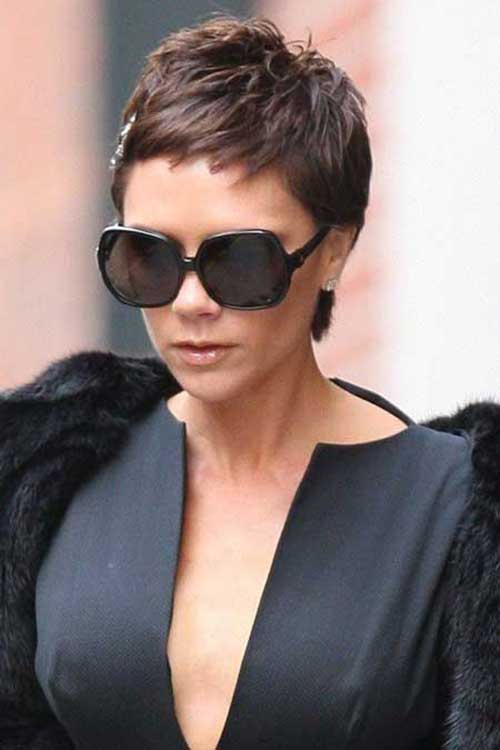Celebrities Short Straight Pixie Cuts