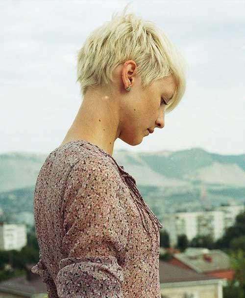 Cool Blonde Pixie Hair Cuts