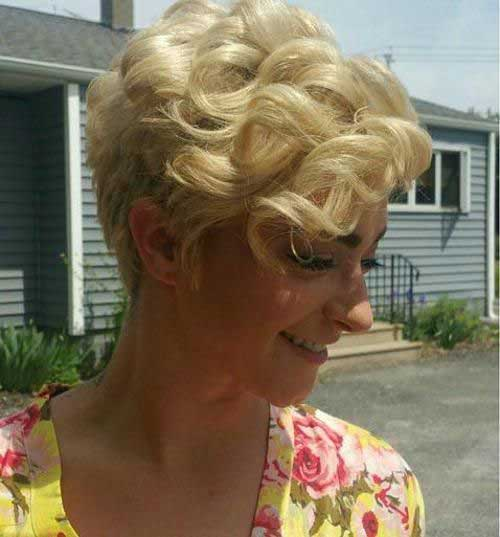 Curly Blonde Pixie Cut Hairstyles