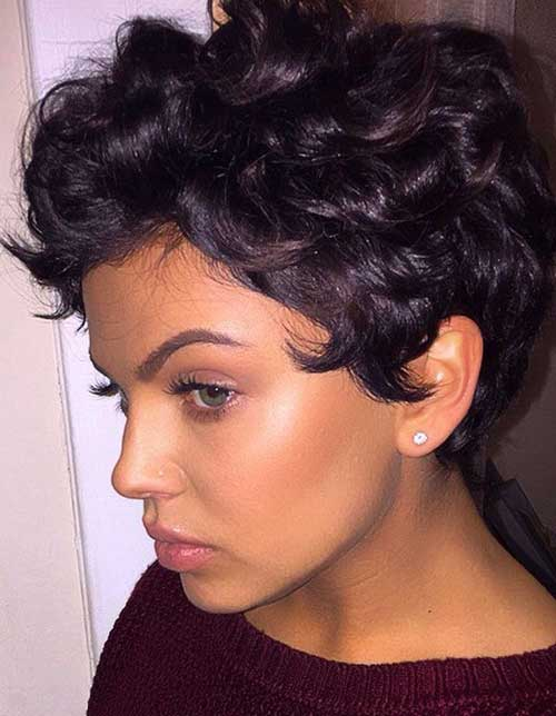 Nice Curly Pixie Cuts