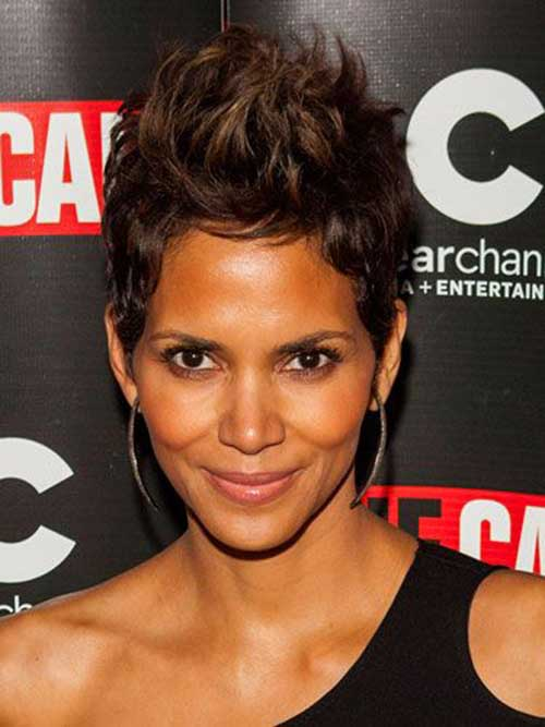 Cute Halle Berry Pixie Hair Cut