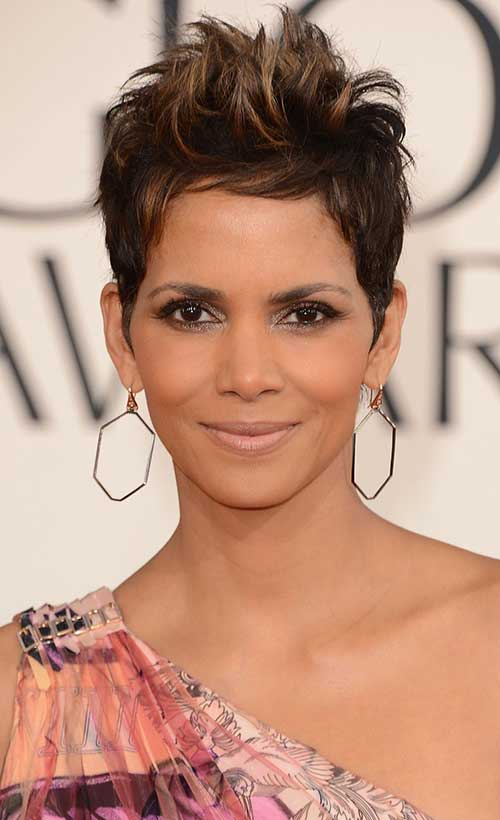 Halle Berry Chic Pixie Hair