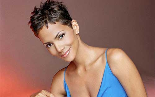 Halle Berry Cool Short Pixie Cut