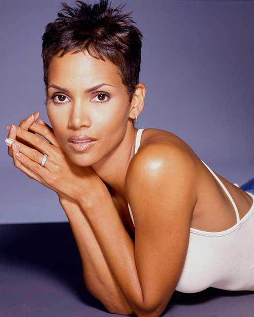 Halle Berry Spiky Pixie Cut