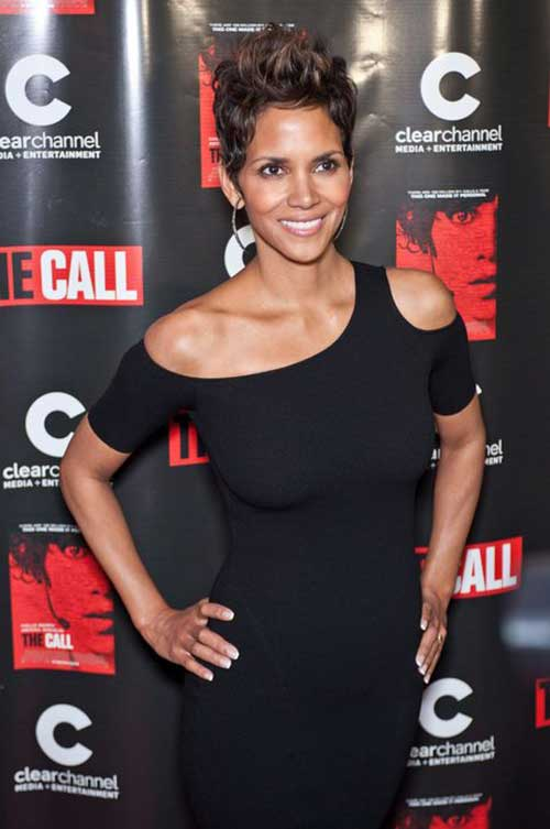 Halle Berry Stylish Pixie Cut