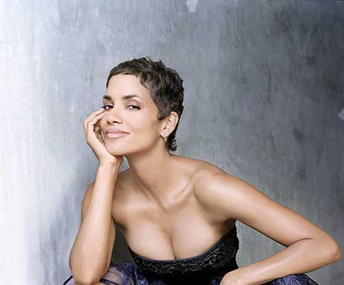Halle Berry Super Short Pixie Cut