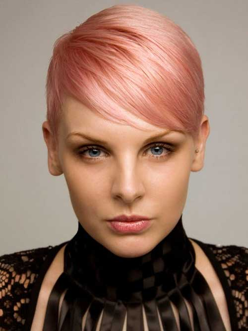 Light Pink Pixie Cut