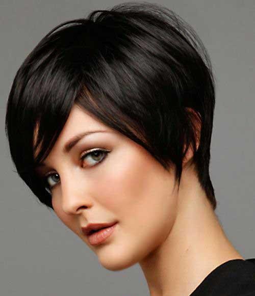 Long Dark Pixie Straight Hairstyles