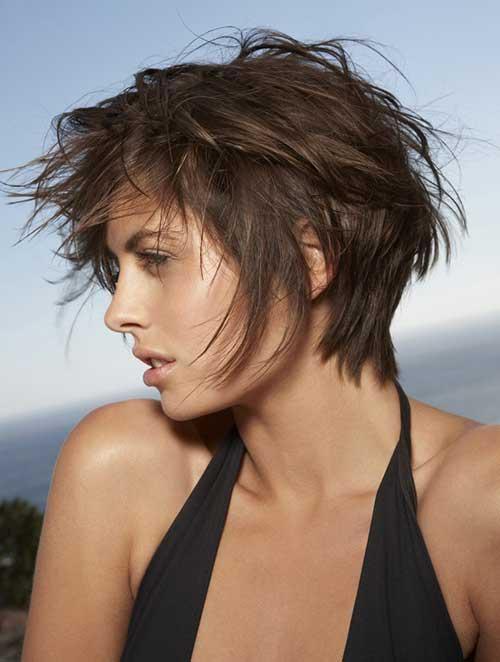 Messy Long Pixie Hair 2015