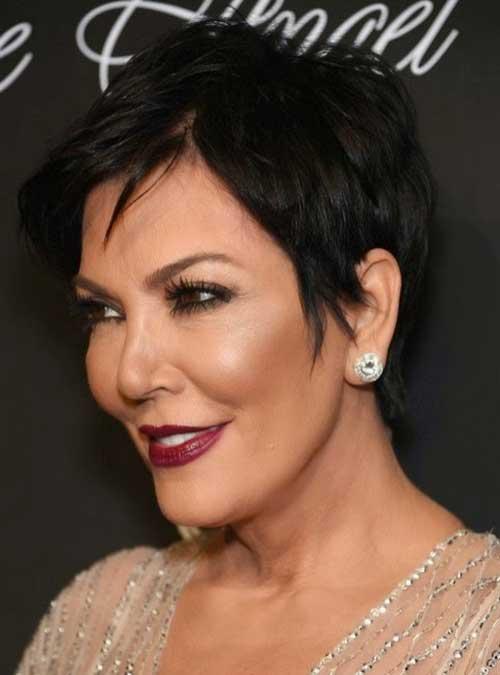 Modern Dark Pixie Hair for Women Over 50