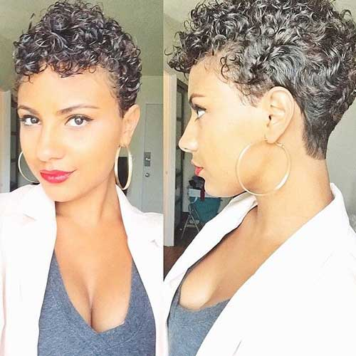 Natural Curly Pixie Cuts
