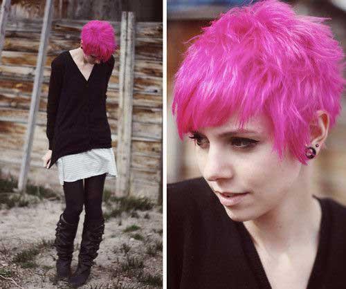 Pink Pixie Emo Hair