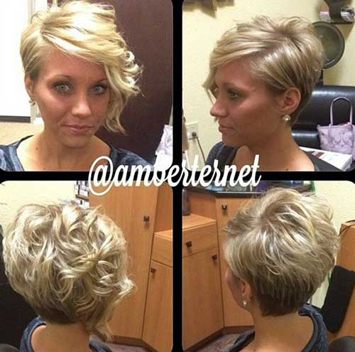 Blonde Pixie Curly Hair
