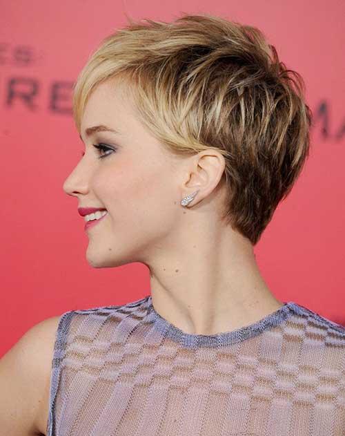Pixie Cut Blonde Color Back View