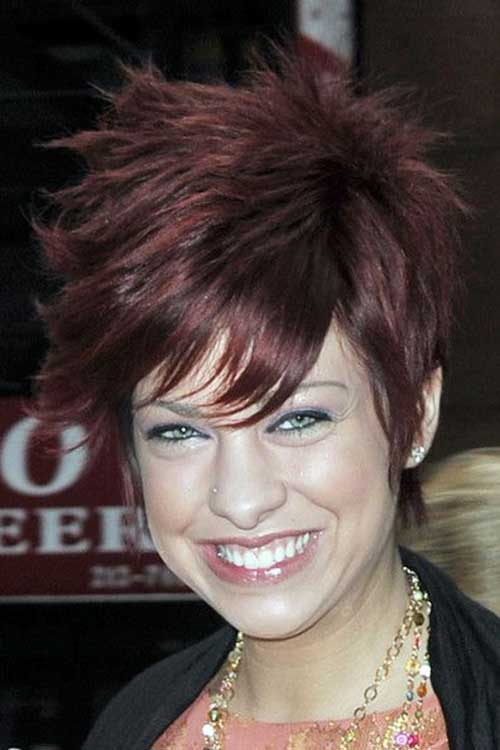 Pixie Cut Brown Spiky Hairstyles