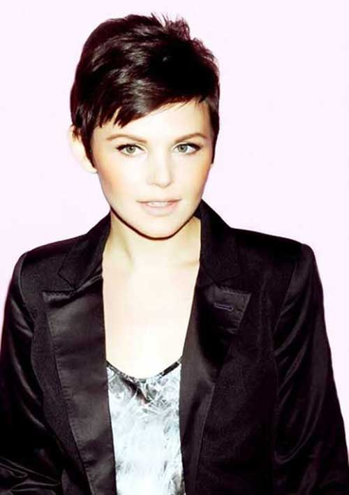 Pixie Cut Brown Straight Hairstyle Pictures