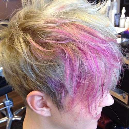 Pixie Cut Colorful Hair Ideas