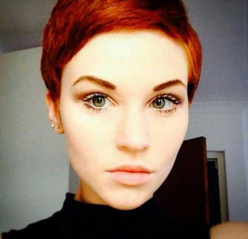 Pixie Cut Hair Red Color Ideas