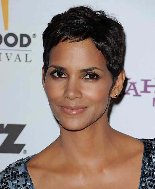 Short Pixie Cut Halle Berry