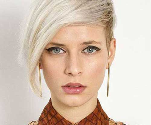 Blonde Pixie Cut Oval Face