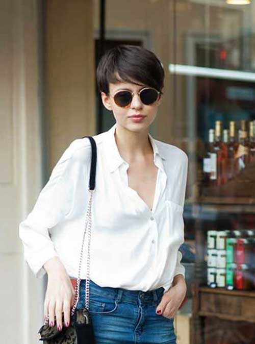 Pixie Cut for Thin Dark Hair