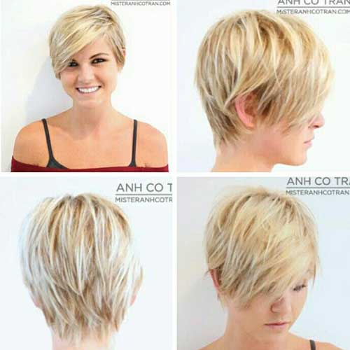 Cool Pixie Cuts with Long Bangs