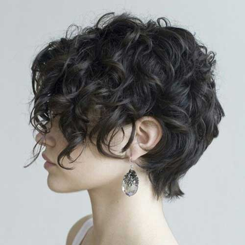 Curly Pixie Hair Cut