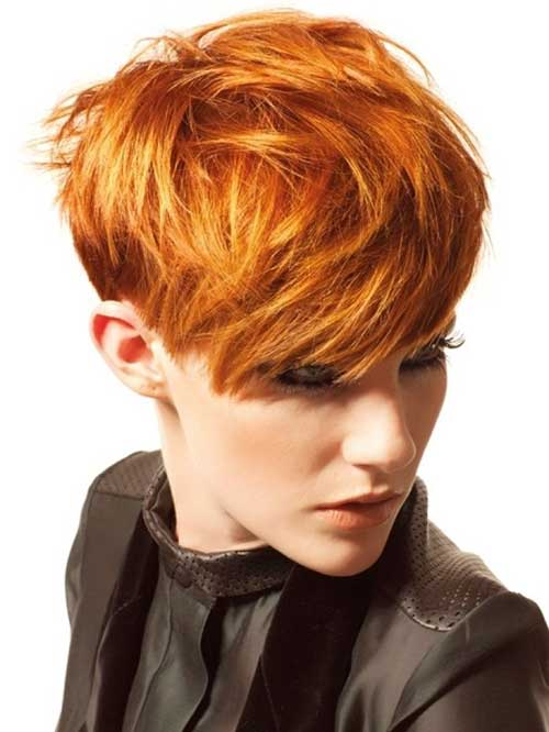 Pixie Haircut for Thick Copper Hair