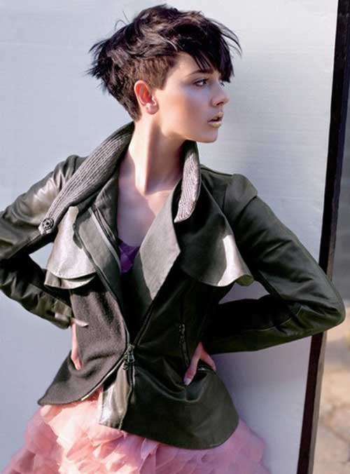 Pixie Haircuts Thick Hair Side View Look