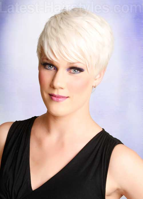 Pixie Haircuts Thick Platinum Blonde Hairstyles