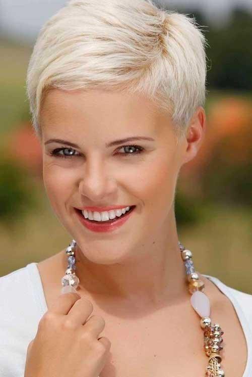 Platinum Blonde Pixie Hair Cuts